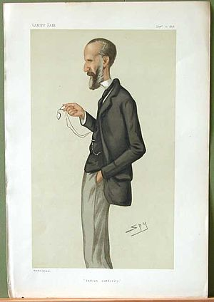 "George Campbell (1824–1892) - ""Indian authority"". Caricature by Spy published in Vanity Fair in 1878."