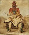 George Catlin - La-dóo-ke-a, Buffalo Bull, a Grand Pawnee Warrior - 1985.66.100 - Smithsonian American Art Museum.jpg