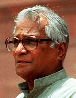 Former Indian Defence Minister George Fernandes, an alleged bribe recipient in the Barak missile case. Resigned following publication of Tehelka tapes. Wikimedia/Creative Commons, Helene C, Stikkel.