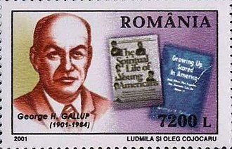 George Gallup - George Gallup on a 2001 Romania stamp