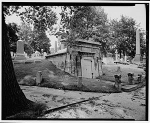 Mount Pleasant Cemetery, Newark - Tomb of George Opdyke within the Mount Pleasant Cemetery