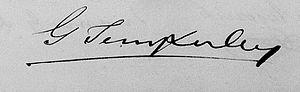 George Temperley - Image: George Temperley signature