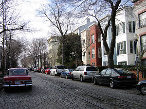 P Street (Washington, D.C.) - P Street NW in the Georgetown neighborhood in February 2006