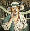 Georgette Agutte - The White and Green Hat.jpg
