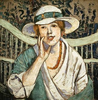 Georgette Agutte - Georgette Agutte, The White and Green Hat