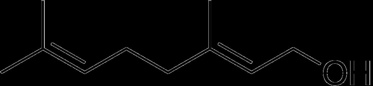 Geraniol structure.png