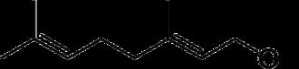 Geraniol - Image: Geraniol structure