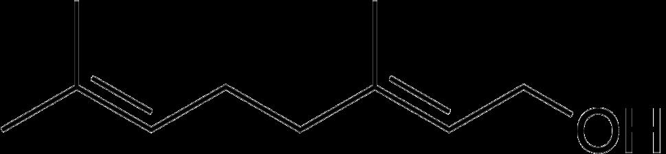 Geraniol structure