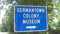 Germantown Colony sign, Minden, LA MVI 2604 Germantown sign
