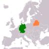 Lage von Deutschland und Weißrussland