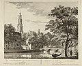 Gezicht op de Westerkerk en de Vleeshal te Amsterdam, vanaf de Keizersgracht, 1760. NL-HlmNHA 1477 53009586.JPG
