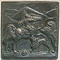 Gianfrancesco enzola, cavaliere con armatura contro tre leoni, 1465 circa.JPG