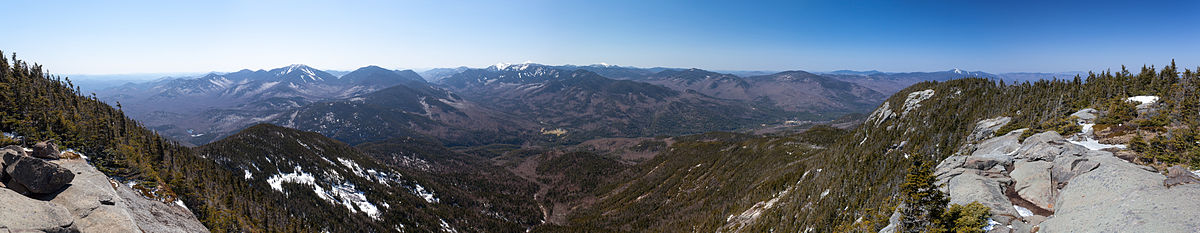 View of the Adirondack High Peaks from the summit of Giant Mountain