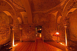 Moorish Baths, Gibraltar - Central chamber of the Moorish Baths at the Gibraltar Museum