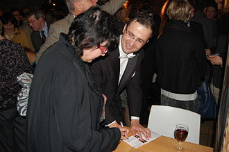 Giorgi Latso - Signing session after the concert at St. John's Smith Square Concert Hall in Westminster, London (2012)