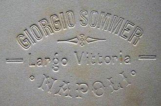 Blind Stamp - Image: Giorgio Sommer's blind stamp