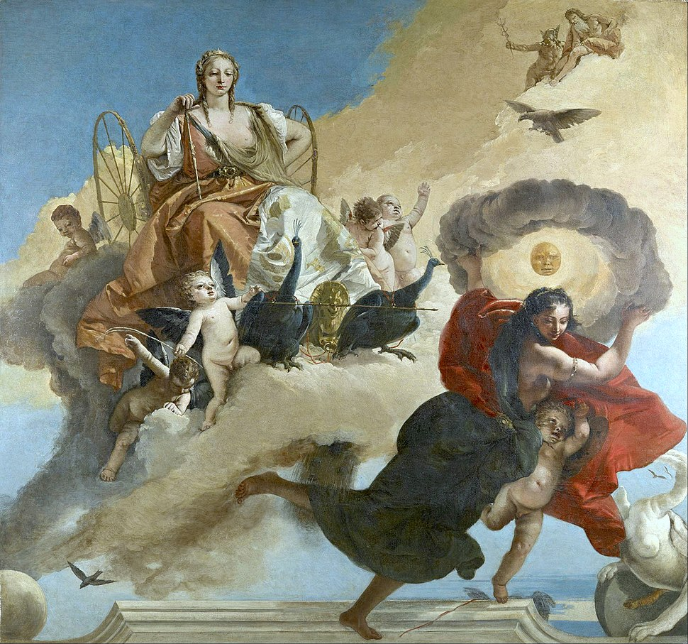 Giovanni Battista Tiepolo - Juno and Luna - Google Art Project