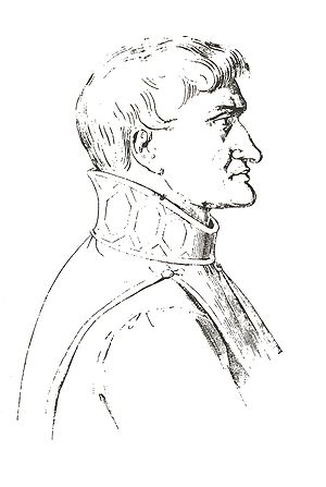 John of Procida - Reproduction of the profile present in the ''Duomo'' of Salerno (Michele Parascandolo. Storia di Procida, Benevento, 1893).