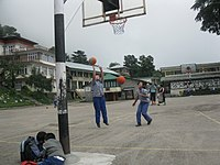 Girls play basketball in Dharmsala, India.jpg