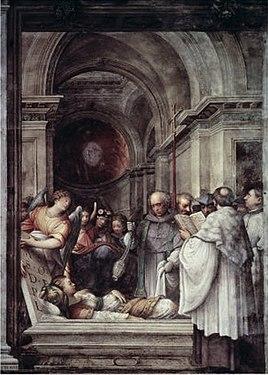 Giulio Campi Entierro de Santa Agata