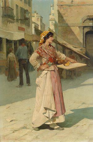Giuseppe Barison - Venetian salesgirl