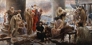 Giuseppe Boschetto - Pro Patria Omnia (Women sheared of hair to provide for bows) by Boschetto.