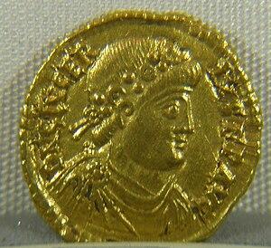 Glycerius - Solidus of Emperor Glycerius