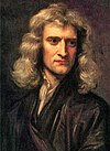 Isaac Newton at age 46 in Godfrey Kneller's 1689 portrait.