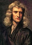 Newton at age 46 in Godfrey Kneller's 1689 portrait.