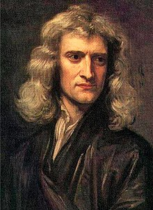 isaac newton  sir isaac newton portrait of man in black shoulder length wavy brown hair a large