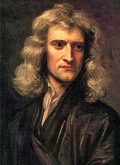Isaac Newton saw the existence of a Creator necessary in the movement of astronomical objects. GodfreyKneller-IsaacNewton-1689.jpg