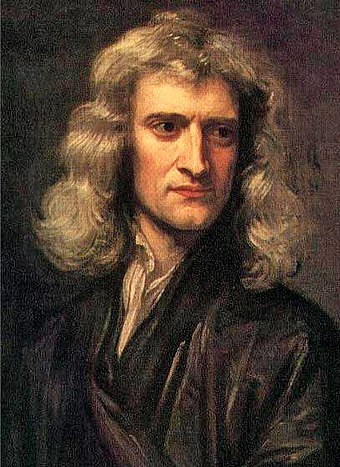 Sir Isaac Newton (1643-1727), whose laws of motion and universal gravitation were major milestones in classical physics GodfreyKneller-IsaacNewton-1689.jpg