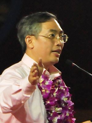 Goh Meng Seng - Goh Meng Seng during his rally speech at Tampines Stadium as a candidate of the National Solidarity Party