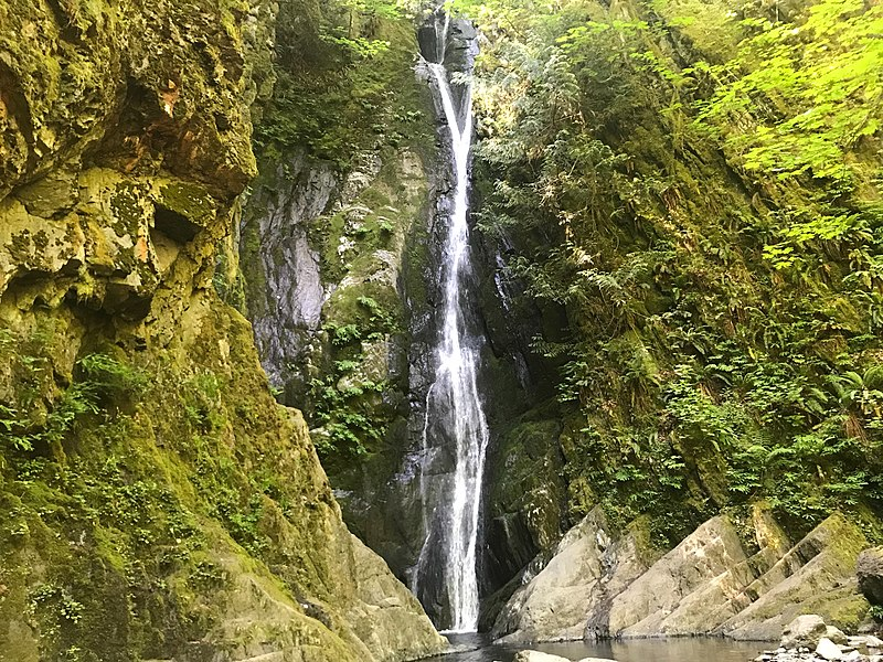 waterfall in Goldstream Provincial Park, south Vancouver Island outside of Victoria