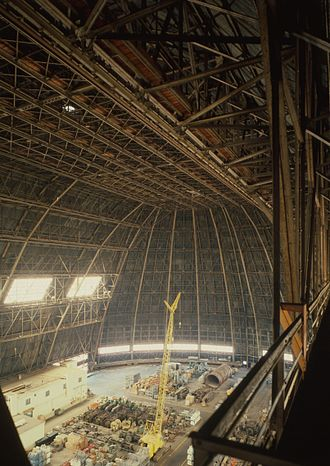 Goodyear Airdock - Interior of the Goodyear Airdock, May 1985