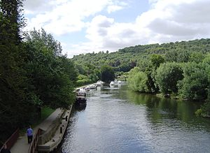 Stream capture - The River Thames as it passes through the Goring Gap