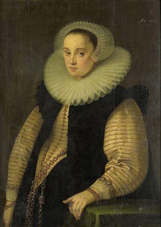 Gortzius Geldorp - Portrait of Hortensia del Prado, Wife of Jean Fourmenois
