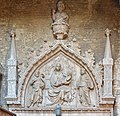Gothic relief Virgin Mary Jesus saints Corte nuova Castello.jpg