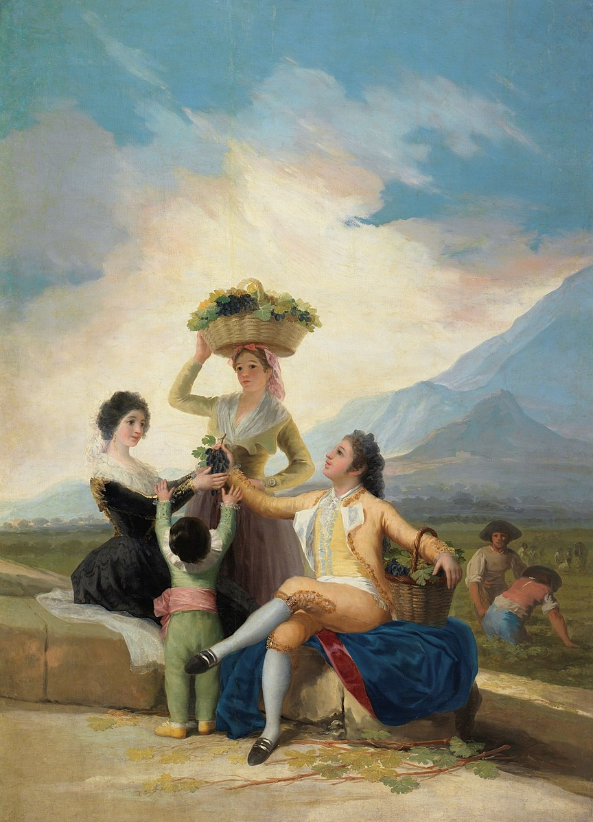 Autumn, The Grape Harvest painting by Fransisco Goya (1786)