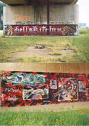 Graffitti - Narrenhände beschmieren Tisch und Wände.jpg