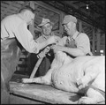 Granada Relocation Center, Amache, Colorado. Slaughter house at the project farm. A total of near . . . - NARA - 539954.tif
