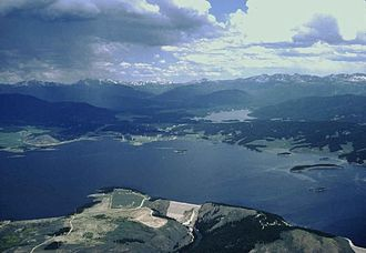 Colorado-Big Thompson Project - View of Lake Granby (front) and Shadow Mountain Lake, the primary West Slope reservoirs