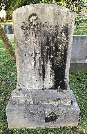 Doug Neff - Neff's gravestone at the University of Virginia Cemetery in Charlottesville, Virginia.