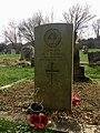 Gravestone of W. J. Thomas of the Welsh Guards, St Edeyrn's Church, Llanedeyrn, December 2020.jpg