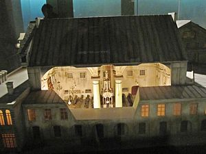 Great Synagogue of Vilna - Model of the Great Synagogue of Vilna at the Diaspora Museum, Tel Aviv.