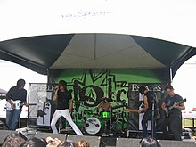 Performing in 2006 at Warped Tour in Vancouver, British Columbia, Canada.