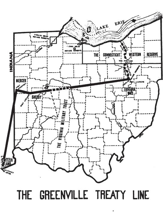 Greenville Treaty Line Map
