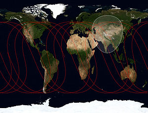 BeiDou Navigation Satellite System - Ground track of BeiDou-M5 (2012-050A)