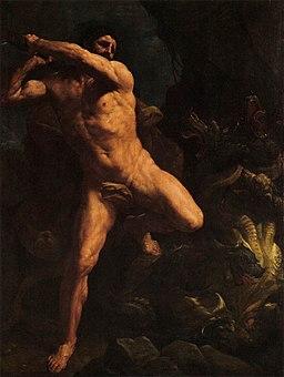 Guido Reni - Hercules Vanquishing the Hydra of Lerma - WGA19284