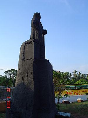 Hermann Gundert - Herman Gundert Statue near Thalassery Stadium